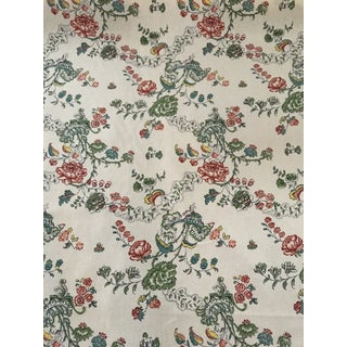 "English Traditional Kathryn M Ireland Fabric ""Bouquet"" - 1 6/8 Yards For Sale"