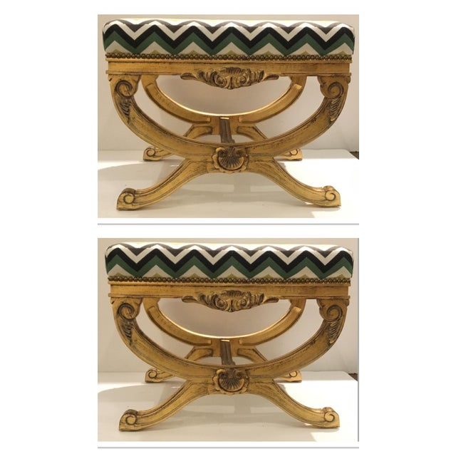Currey & Co. Transitional Exmoor Benches Pair For Sale In Atlanta - Image 6 of 6