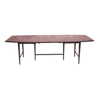 Paul McCobb Planner Group Mid-Century Modern Black Lacquered Extension Dining Table, Newly Refinished For Sale