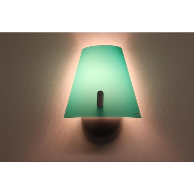 Late 20th Century Mid-Century Modern Murano Green Glass Wall Lamp For Sale - Image 5 of 12