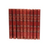 Image of Antique French Leather-Bound Books - Set of 9 For Sale
