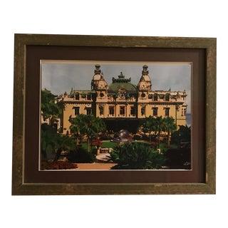 Custom Framed Painting of Monte Carlo Casino
