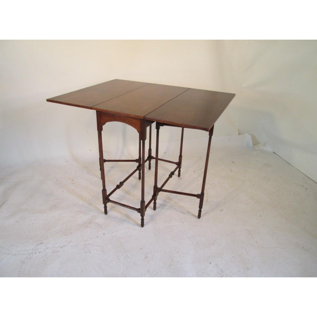1940s Traditional Baker Drop Leaf Mahogany End Table For Sale In Portland, ME - Image 6 of 9