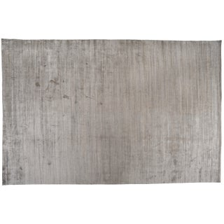 "Zen Collection Beige and Silver Rug- 11'10"" X 17'11"" For Sale"