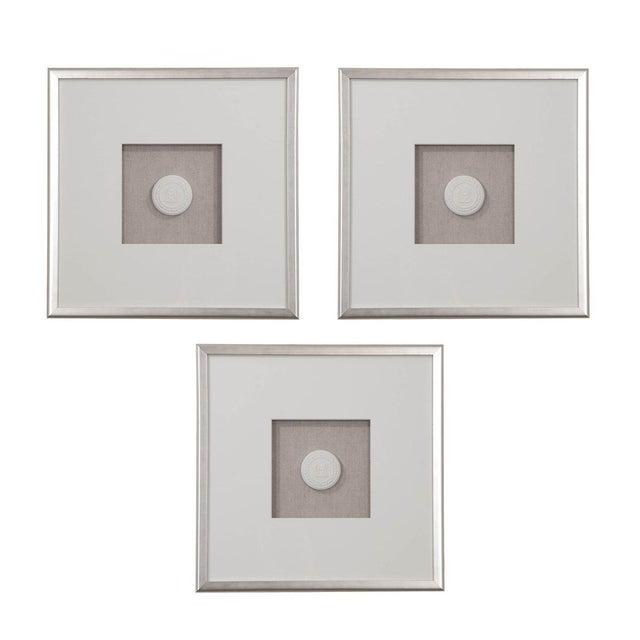 Silver Set of Three Hatcher, New Orleans, Framed Intaglios For Sale - Image 8 of 8
