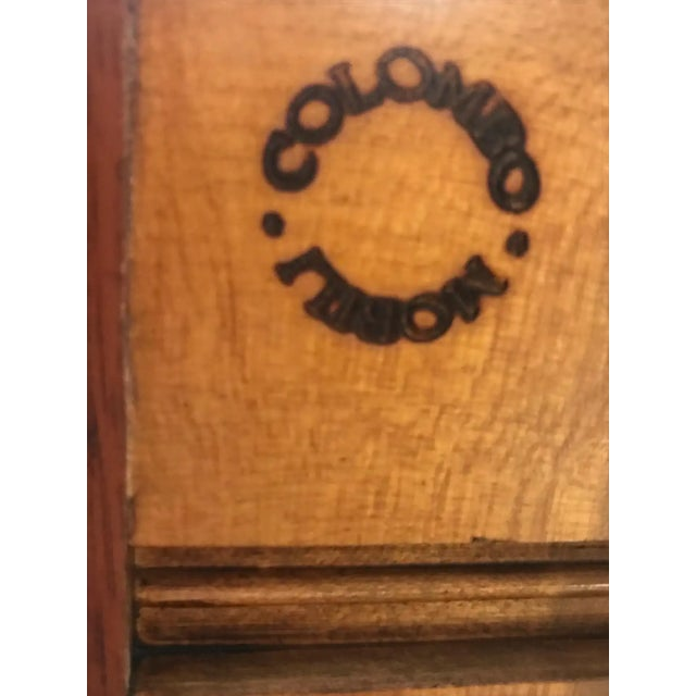 Mixed Wood Small Inlaid Regency Style Console Sideboard For Sale - Image 9 of 10