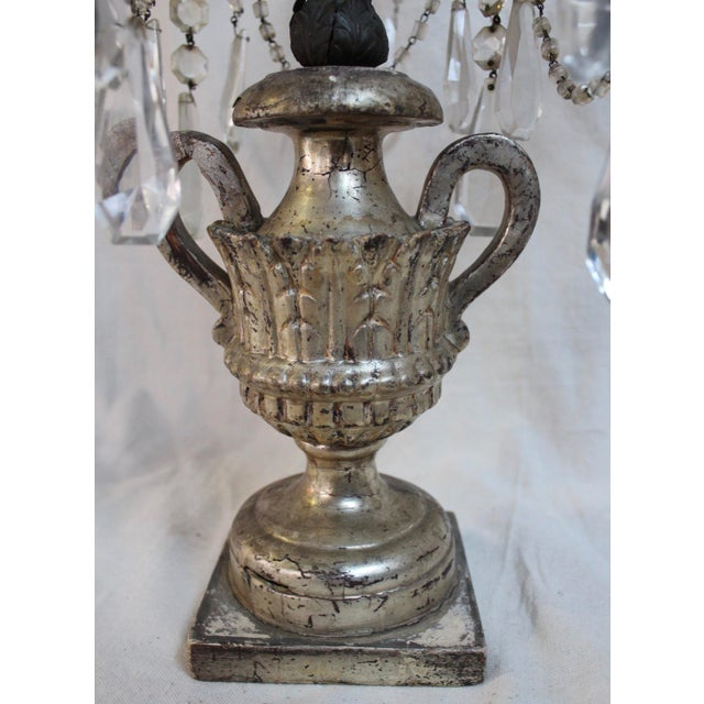 Italian Antique Italian Five Light Candelabra For Sale - Image 3 of 9