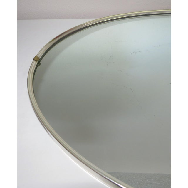 Turner Manufacturing Company Mid-Century Modern Turner Mfg. Oval Chrome Mirror For Sale - Image 4 of 13