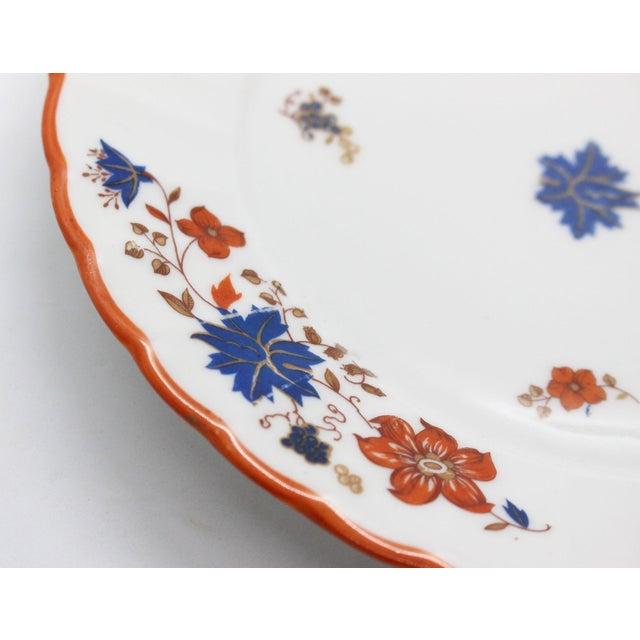 Ceramic Antique German Porcelain Floral Dessert or Salad Plates - Set of 4 For Sale - Image 7 of 9