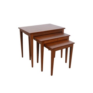 Walnut Nesting Tables Danish Modern Mid-Century Modern - Set of 3 For Sale