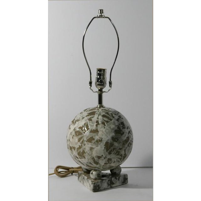 Abstract Ceramic Geometric Ball Lamp For Sale - Image 3 of 5