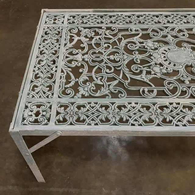 19th Century Iron Panel Coffee Table For Sale - Image 11 of 12