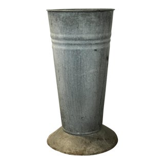 Vintage Zinc Flower Container/ Urn