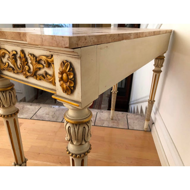 20th Century Vintage Karges Louis XVI Style Console Entry Table For Sale - Image 11 of 12