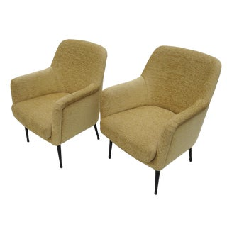 1965 Nino Zoncada Mid-Century Club Chairs From Stella Maris Ll Ocean Liner - a Pair For Sale