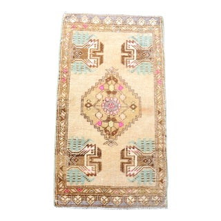 1960s Vintage Anatolian Pastel Oushak Rug For Sale