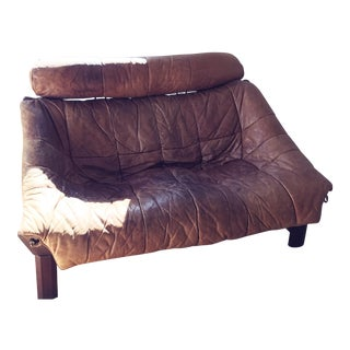 1960's Percival Lafer Brazilian Rosewood and Leather Sling Loveseat