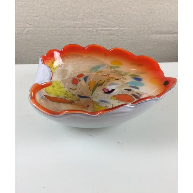 Brilliant Orange Murano Glass Bowl - Image 2 of 6