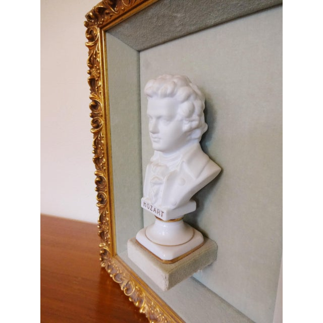 1950s Framed Bust Portraits of Classical Composers - Set of 3 For Sale - Image 5 of 13