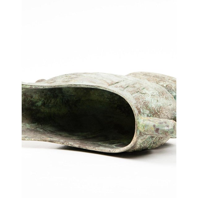 Lawrence & Scott Large Verdigris Bronze Snail Box For Sale In Seattle - Image 6 of 10