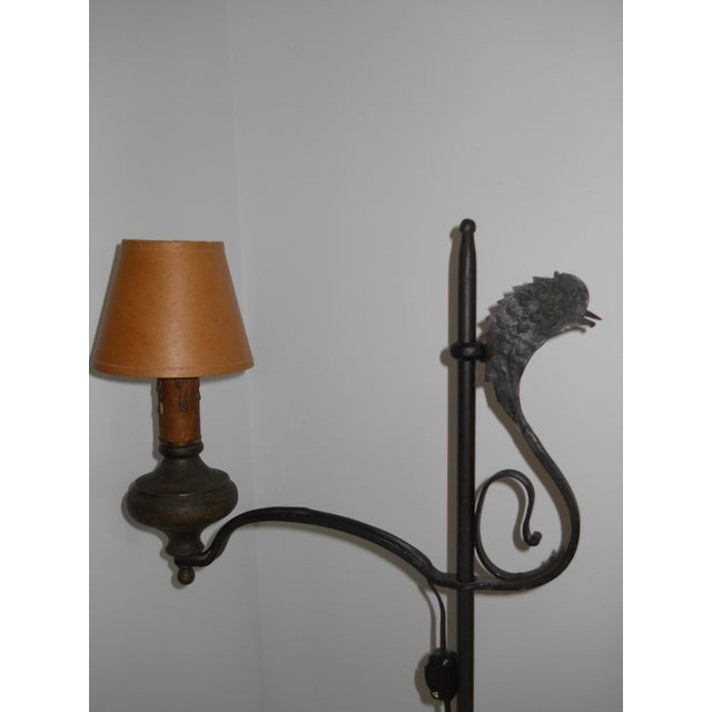 Early 19th Century Wrought Iron and Brass Oil Lamp For Sale - Image 4 of 12
