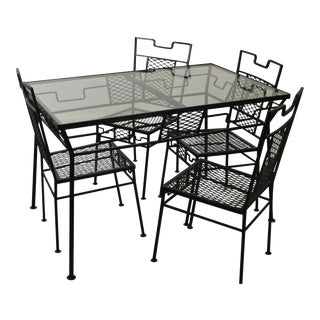 Salterini Mid-Century Metal Patio Table & Chairs - Set of 5