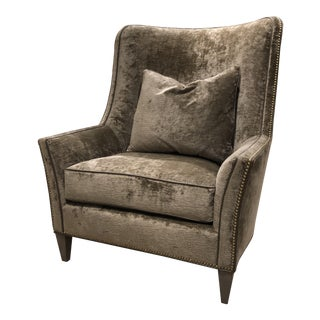 Early 21st Century Transitional Wing Chair For Sale