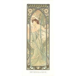 Alphonse Mucha- Reverie Du Soir For Sale