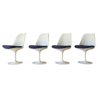 1965 Mid-Century Modern Eero Saarinen for Knoll Tulip Dining Chairs - Set of 4