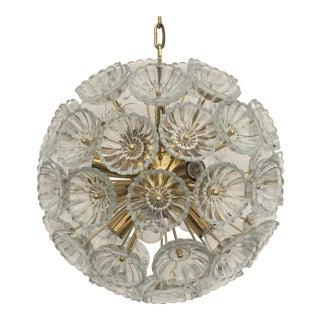 Floral Glass Pusteblum Chandelier For Sale