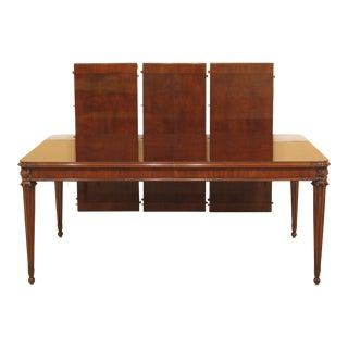 French Louis XVI Karges Walnut Dining Room Table For Sale