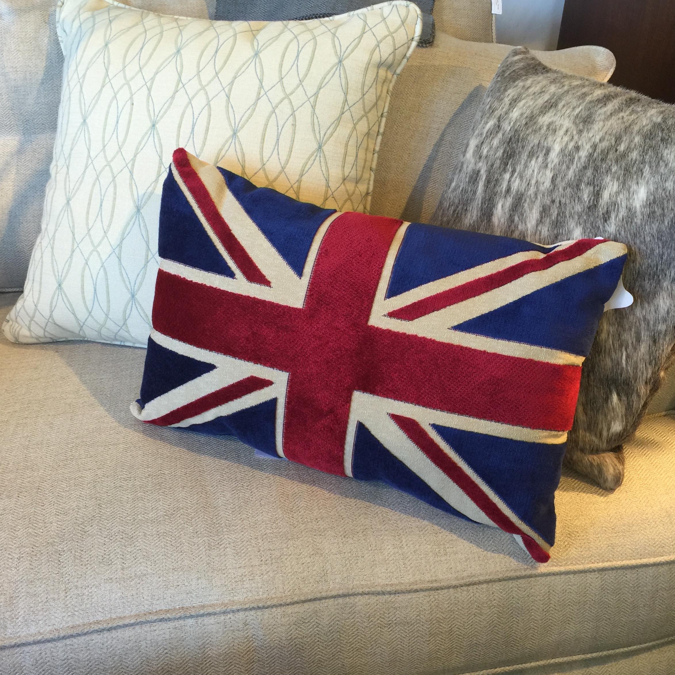 Superior Union Jack Flag Chenille Bolster Pillow   Image 2 Of 6 Amazing Ideas