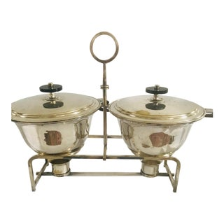 Mid 20th Century Tommi Parzinger Double Chafing Dish Set For Sale