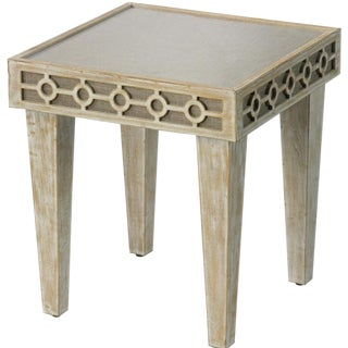 Jamie Young St. John Washed Oak Side Table For Sale