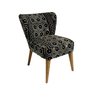 Vintage Mud Cloth Accent Chair For Sale