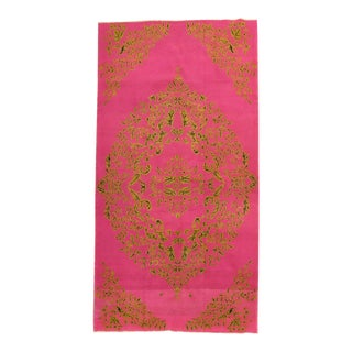 20th Century Bright Fuchsia Turkish Hand Knotted Rug For Sale