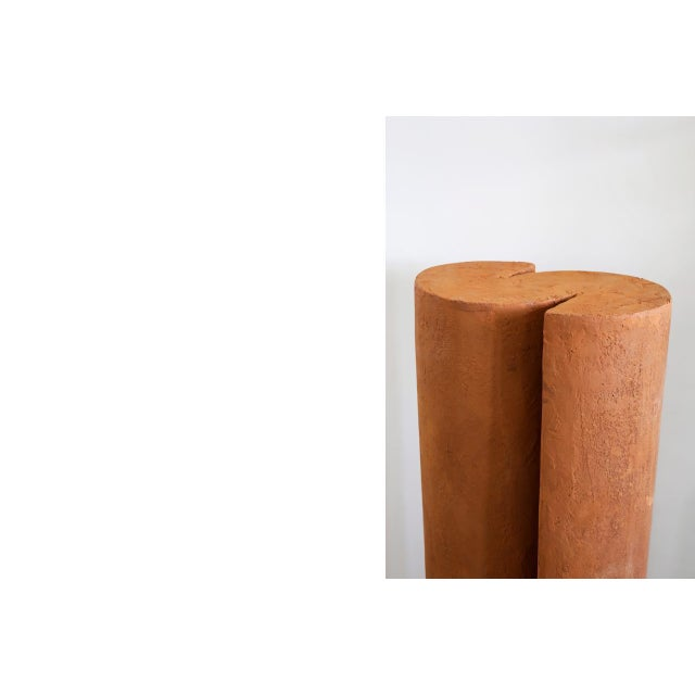 ROOMS Terracotta Pedestals, Hand Sculpted, Rooms For Sale - Image 4 of 6