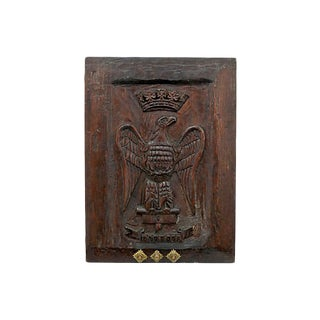 Antique French Carved Eagle/Crown Panel For Sale
