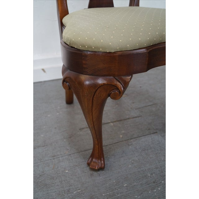 Walnut Georgian Queen Anne Dining Chairs - 6 - Image 9 of 10