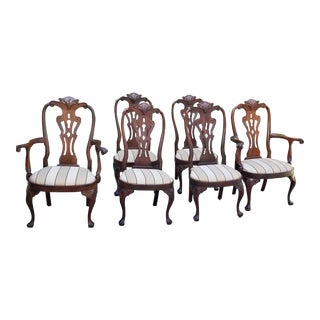 Henredon Rittenhouse Queen Anne Mahogany Dining Chairs - Set of 6