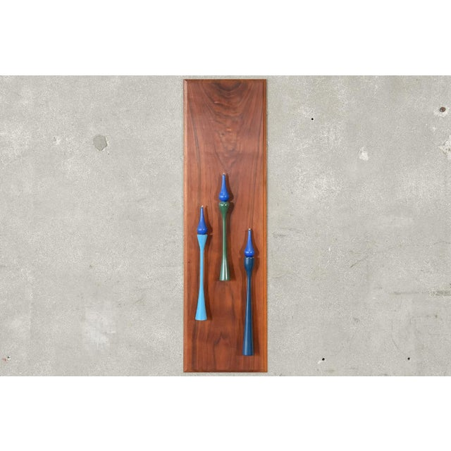 Decorative Walnut Wall Hanging Candleholder For Sale - Image 4 of 4