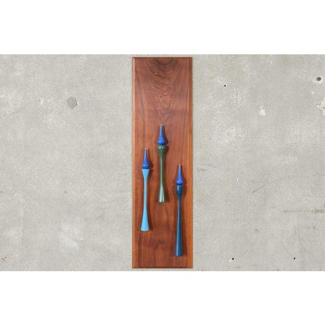 Decorative Walnut Wall Hanging Candleholder - Image 4 of 4