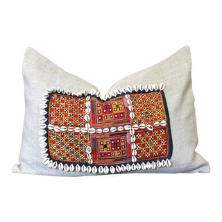 Dabeet Jumlo Shell Embellished Pillow For Sale