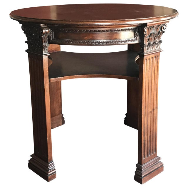 Mid 19th Century Antique English Mahogany Center Table For Sale - Image 4 of 4