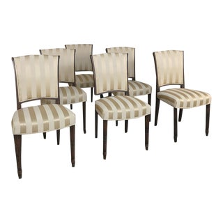 Set of 6 Antique Louis XVI Dining Chairs For Sale