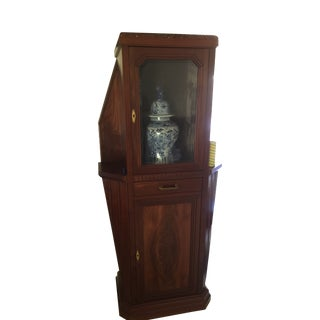 Art Deco Mahogany Vitrine For Sale