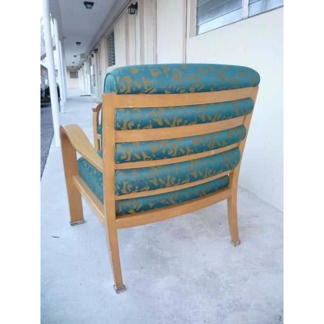 Wood Pair of J. Robert Scott Sally Sirkin Lewis Deco Lounge Chairs For Sale - Image 7 of 13