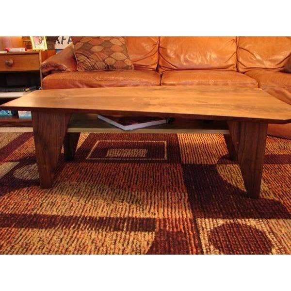 Mid Century Modern Walnut Slab Coffee Table - Image 6 of 7