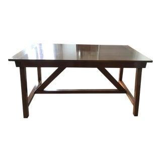 Modern Farmhouse Mahogany Plank Table For Sale