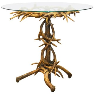 Black Forrest Style Faux Antler Drink Table For Sale